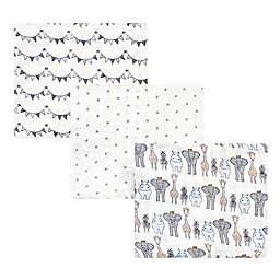 Hudson Baby® 3-Pack Royal Safari Muslin Swaddle Blankets