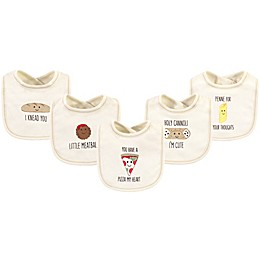 Touched by Nature® 5-Pack Pizza Organic Cotton Bibs
