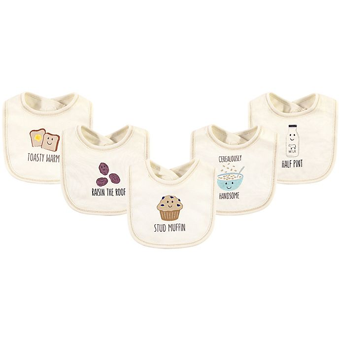 Alternate image 1 for Touched by Nature® 5-Pack Muffin Organic Cotton Bibs