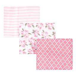 Little Treasure 3-Pack Beyoutfiul Muslin Cotton Baby Blankets in Pink
