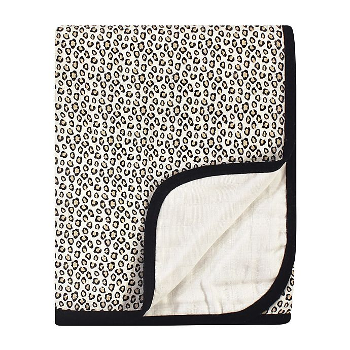 Alternate image 1 for Little Treasure® Muslin Quilt Blanket in Leopard