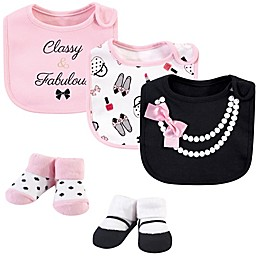 Little Treasure® One Size 5-Piece Pearls Bib and Sock Set