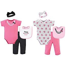 Little Treasure® Size 0-6M 8-Piece Bestie Bodysuit, Pant, Headband, and Bib Gift Set