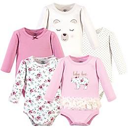 Little Treasure 5-Pack Baby Bear Long Sleeve Bodysuits