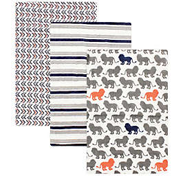 Yoga Sprout 3-Pack Lion Muslin Swaddle Blankets
