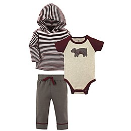 Yoga Sprout Size 9-12M 3-Piece Fearless Hoodie Jacket, Bodysuit, and Pant Set in Red
