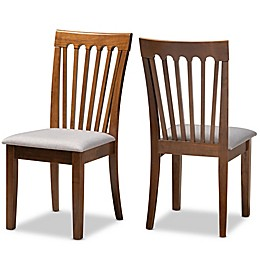 Baxton Studio Adele Upholstered Dining Chairs (Set of 2)