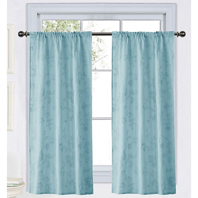Alternate image 1 for Wamsutta® Vintage Floral Embroidery 45-Inch Rod Pocket Window Curtain Panel in Lavender