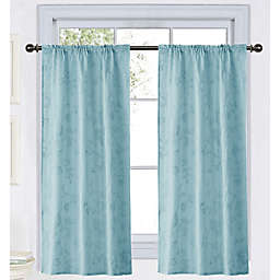 Wamsutta® Vintage Floral Embroidery 45-Inch Rod Pocket Window Curtain Panel in Lavender