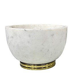 W Home Marble Bowl in Natural/Gold