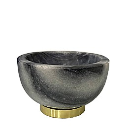 W Home Decorative Marble Bowl in Grey and Gold