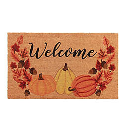 "Harvest Pumpkin ""Welcome"" 18"" x 30"" Door Mat"