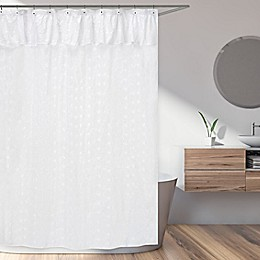 Sweet Jojo Designs White Eyelet Shower Curtain