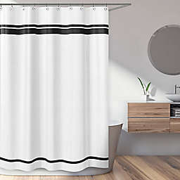 Sweet Jojo Designs Hotel Shower Curtain in White/Black