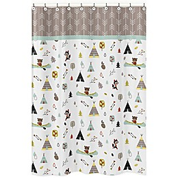 Sweet Jojo Outdoor Adventure Shower Curtain