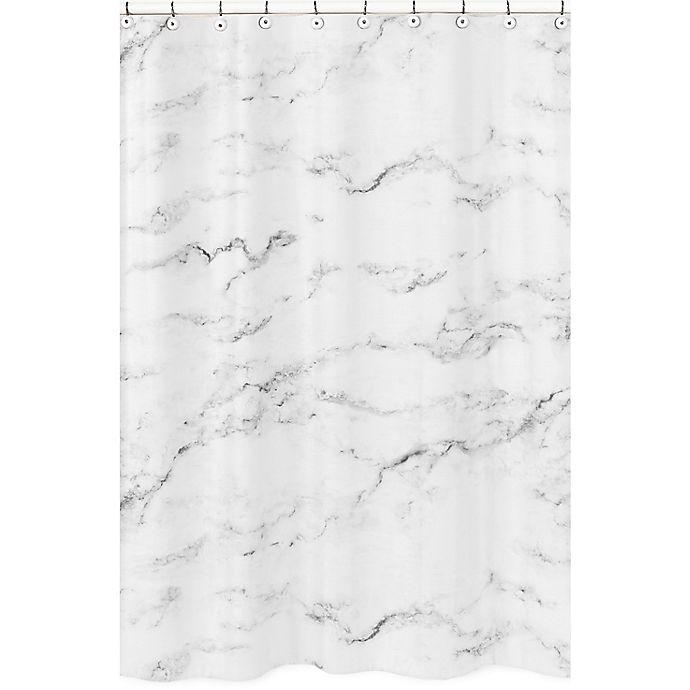 Alternate image 1 for Sweet Jojo Designs Marble Shower Curtain in Black/White