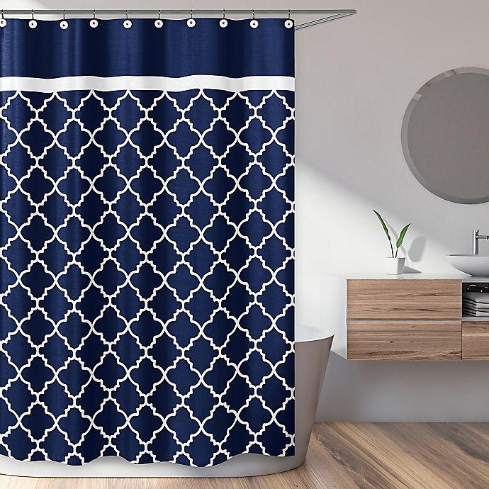 White Trellis Shower Curtain, Unique Shower Curtain Designs