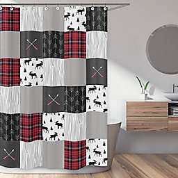 Sweet Jojo Designs Rustic Patch 72-Inch x 72-inch Shower Curtain