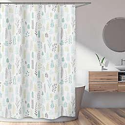 Sweet Jojo Designs Leaf Shower Curtain in Aqua/Grey
