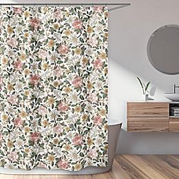 Sweet Jojo Designs Vintage Floral Shower Curtain in Pink/Green