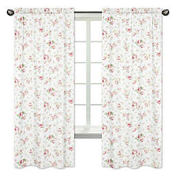 Sweet Jojo Designs Riley's Roses Window Panel Pair