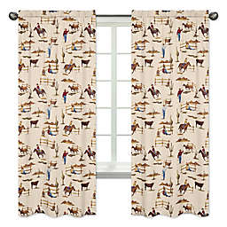 Sweet Jojo Designs Wild West 84-Inch Cowboy Print Window Panels (Set of 2)
