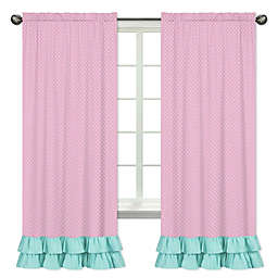 Sweet Jojo Designs Skylar Window Panel Pair in Pink/Turquoise