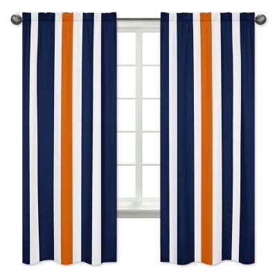 "Coral Cocoa 84/"" Beach Pole Top Window Curtain Panel"