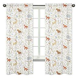 Sweet Jojo Designs Woodland Toile 84-Inch Animal Print Window Panels (Set of 2)
