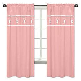 Sweet Jojo Designs® Woodsy 84-Inch Window Panels in Coral (Set of 2)