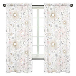 Sweet Jojo Designs Celestial 84-Inch Window Panels in Pink/Gold (Set of 2)