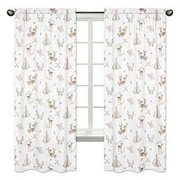 Sweet Jojo Designs Deer Floral Window Panel Pair