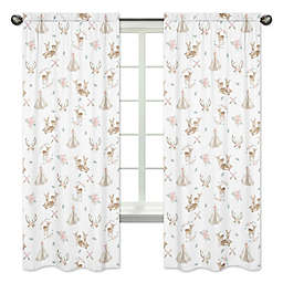 Sweet Jojo Designs Deer Floral Window Panel Pair
