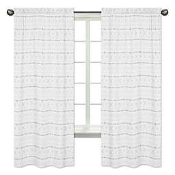 Sweet Jojo Designs Boho Print 84-Inch Window Curtain Panels in Grey (Set of 2)
