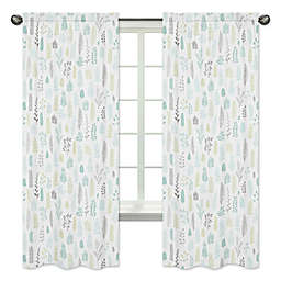 Sweet Jojo Designs 2-Pack Leaf Window Panels in Mint