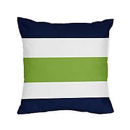 Sweet Jojo Designs Navy and Lime Stripe Throw Pillows (Set of 2)