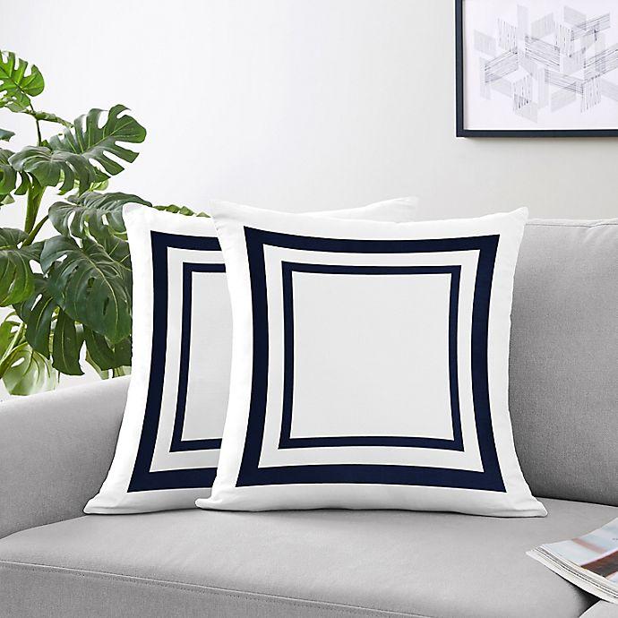 Alternate image 1 for Sweet Jojo Designs Anchors Away Throw Pillows (Set of 2)