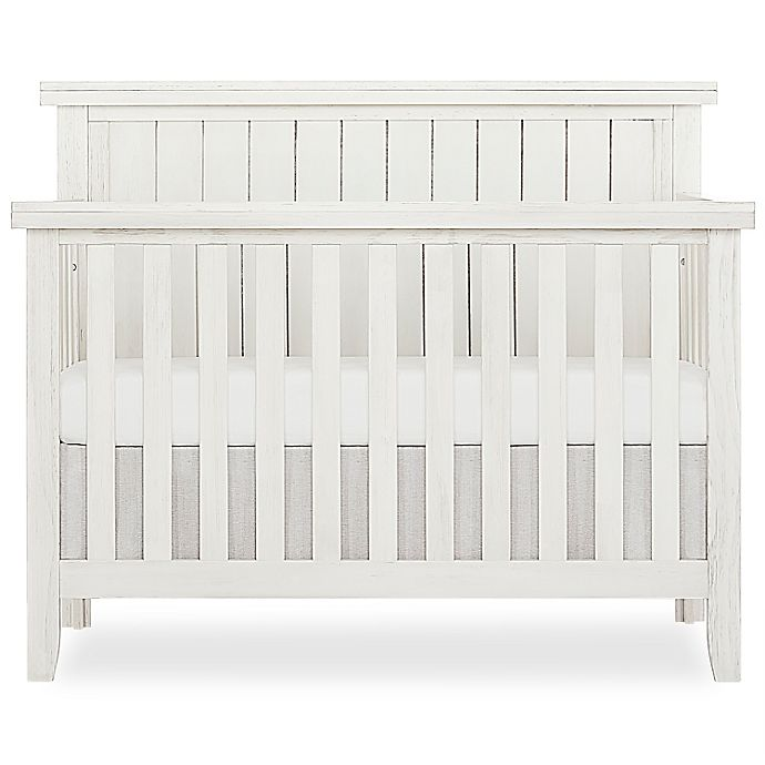 Alternate image 1 for SweetPea Red Wood 4-in-1 Convertible Crib in Weathered White