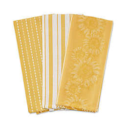 DII® Sonoma Harvest Kitchen Towels in Apricot (Set of 3)