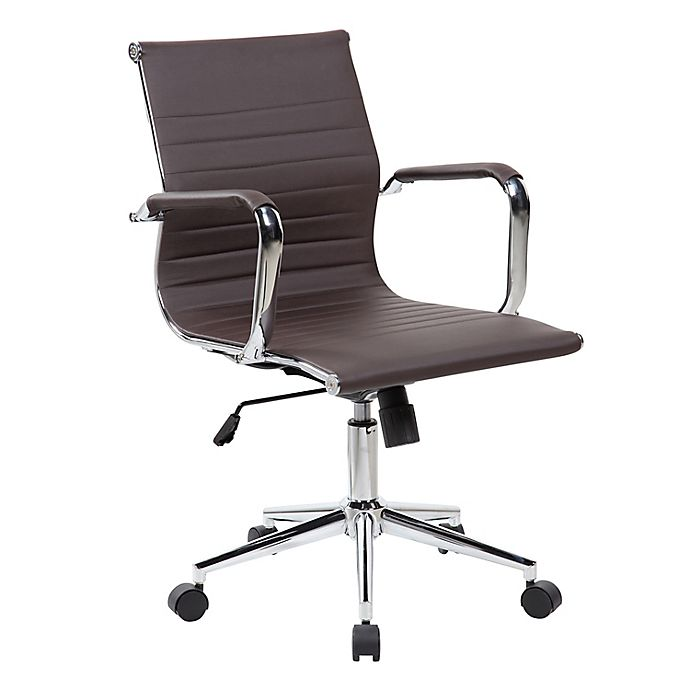 Alternate image 1 for Techni Mobili Modern Executive Office Chair in Brown