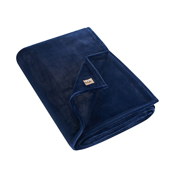 Alternate image 1 for UGG® Coco Luxe Throw Blanket in Navy