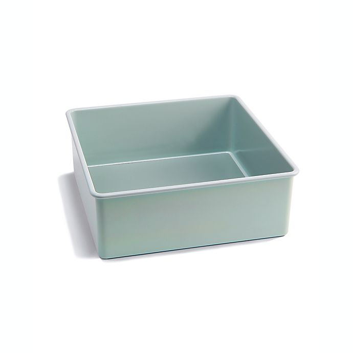 Alternate image 1 for Jamie Oliver Carbon Steel 8-Inch Square Cake Pan in Blue