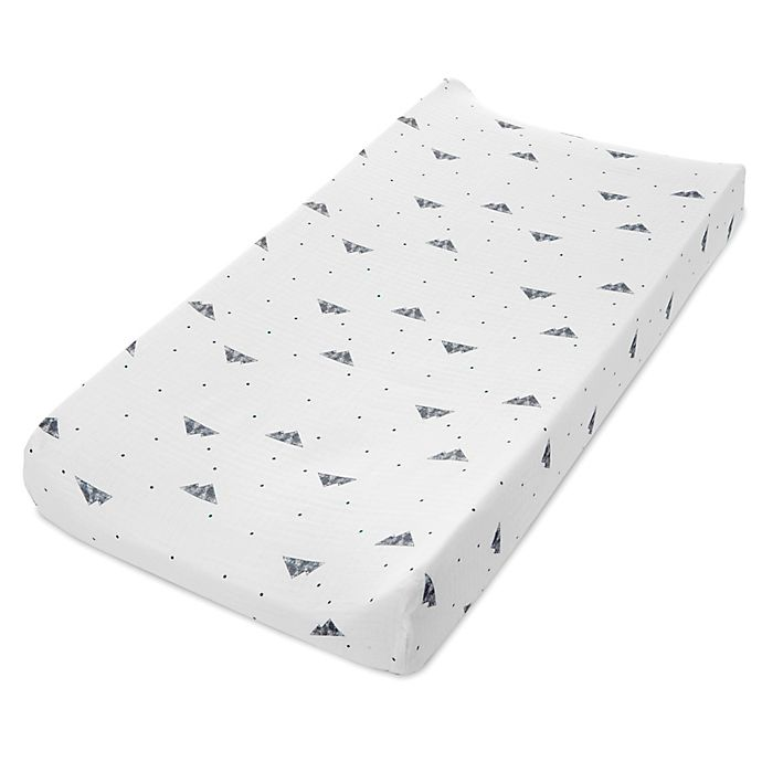 Alternate image 1 for aden + anais® Essentials Mountain Changing Pad Cover in Brown