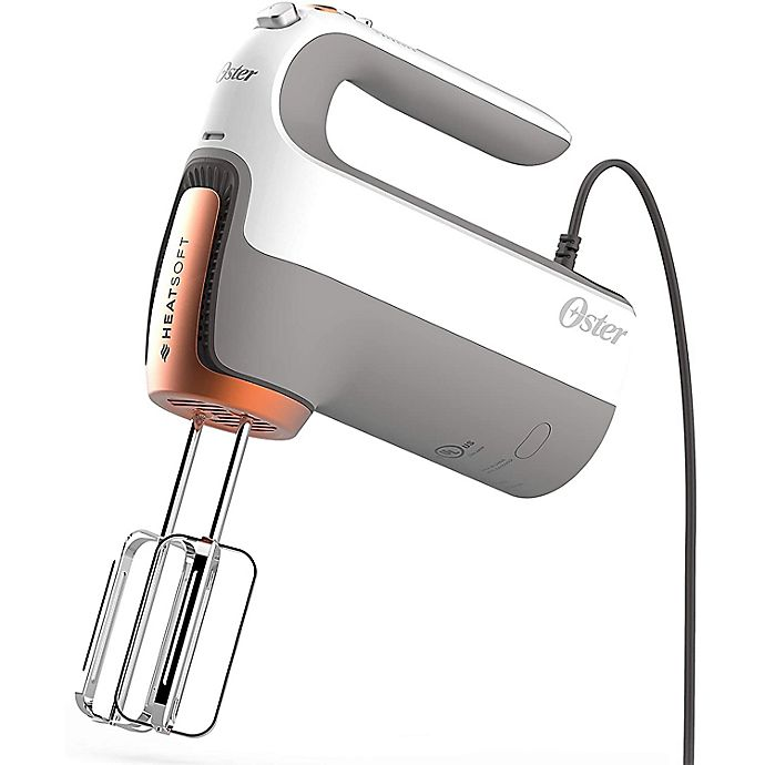 Alternate image 1 for Oster® HeatSoft Hand Mixer with Storage Case in Grey