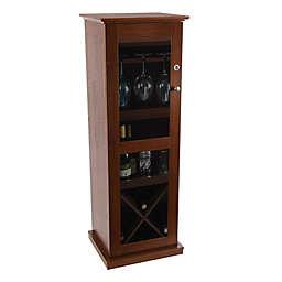 Atlantic Herrin Locking Bar Cabinet in Chestnut