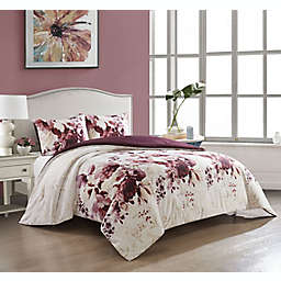 Nanshing Gisele 3-Piece Comforter Set in Purple