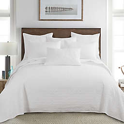 Homthreads Emory 3-Piece Reversible King Bedspread Set in White