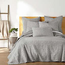 Homthreads Beckett Reversible Quilt Set in Light Grey