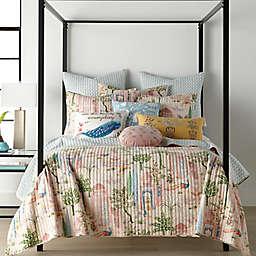 Napali Peacock Beauty Rectangular Throw Pillow in White