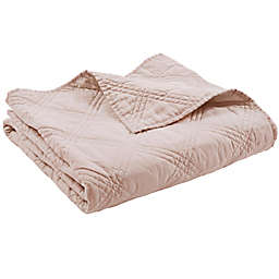 Levtex Home Washed Linen Quilted Throw Blanket in Blush